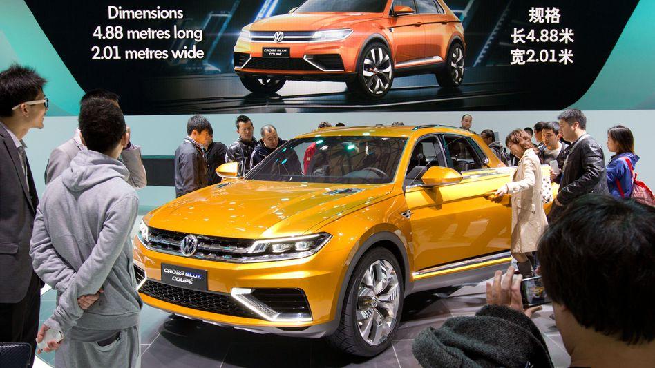 VW-Messestand auf der Auto Shanghai: Es gibt keine Alternative zu China