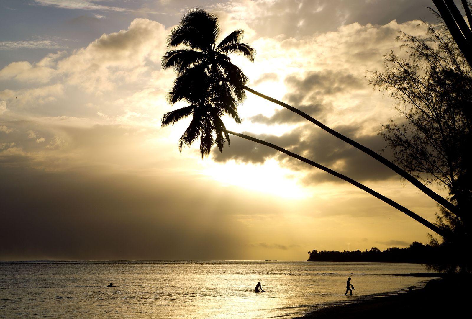 Cook Islands / Insel / Sonnenuntergang