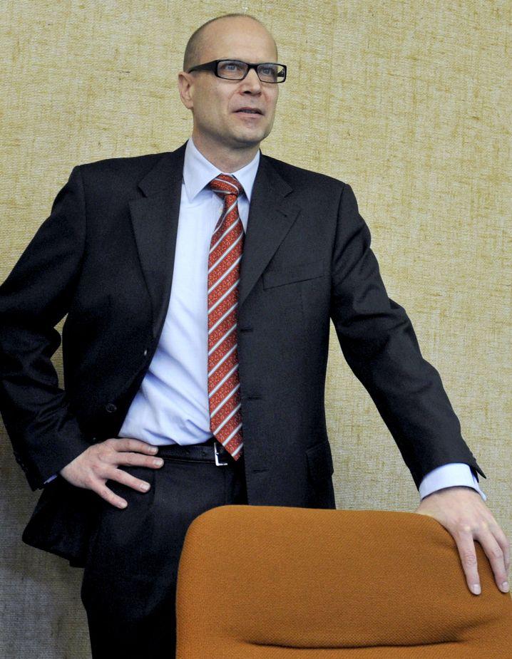 Standhaft: Thomas Ganswindt beim ersten Siemens-Prozess vor dem Landgericht München I (2011)
