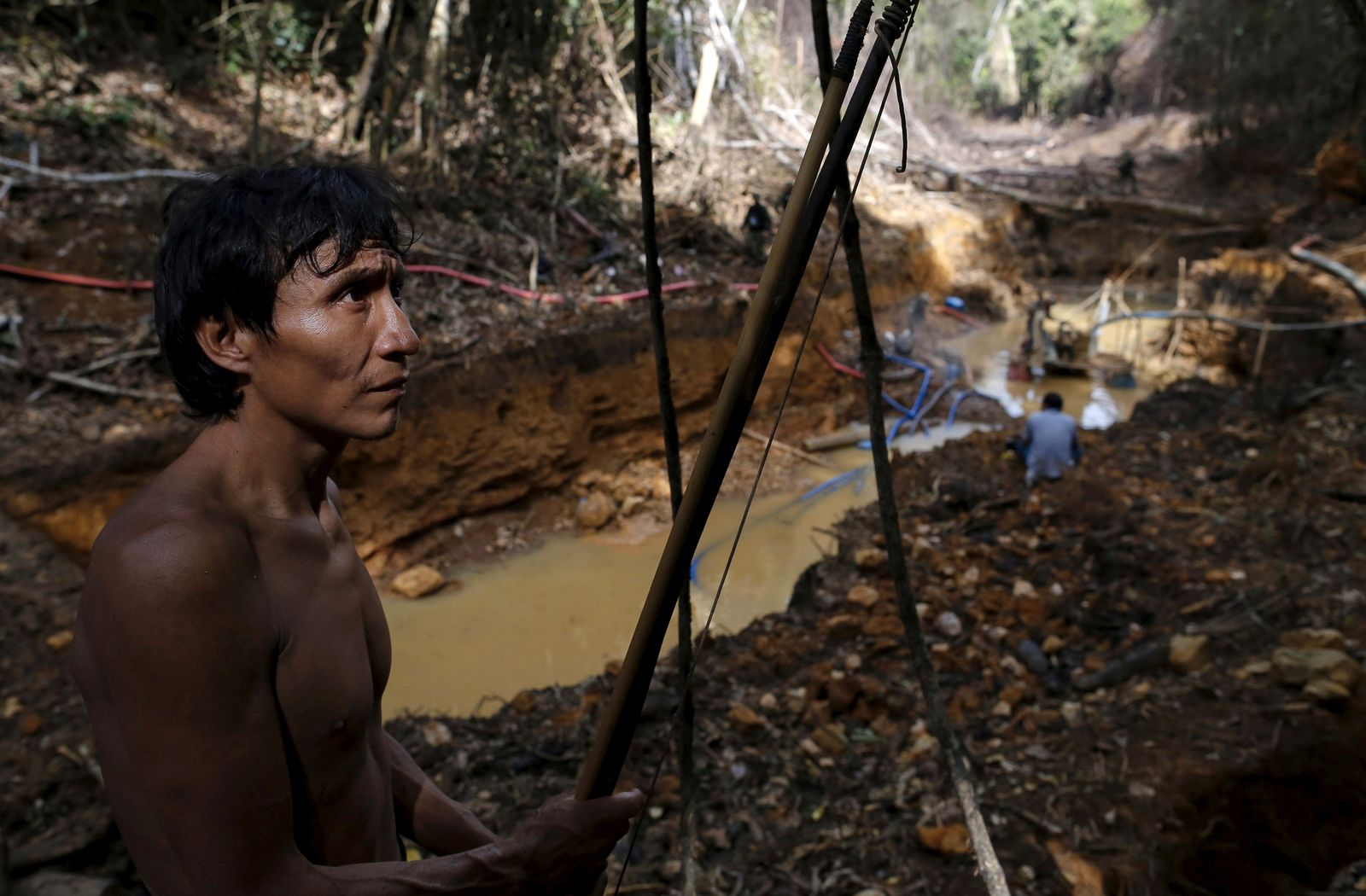 The Wider Image: Illegal gold mining in the Amazon