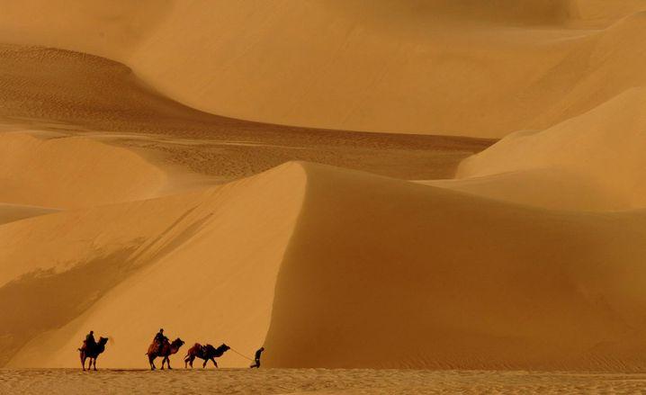 Unwirtliches Gelände: Die Wüste Gobi ist alles andere als klassisches Laufstrecken-Terrain