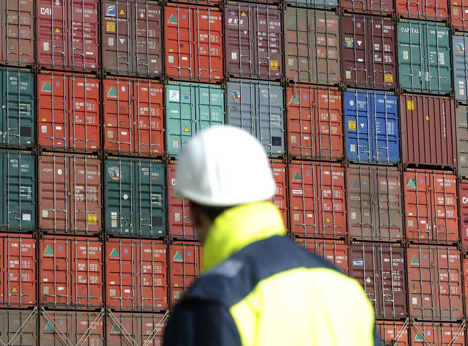Hamburger Hafen / Deutschland / Export / Container / Freihandel