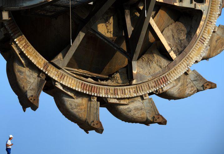 Schaufelradbagger in Lausitzer Braunkohletagebau: Deutschland ist die Nummer eins - aber nicht stolz darauf