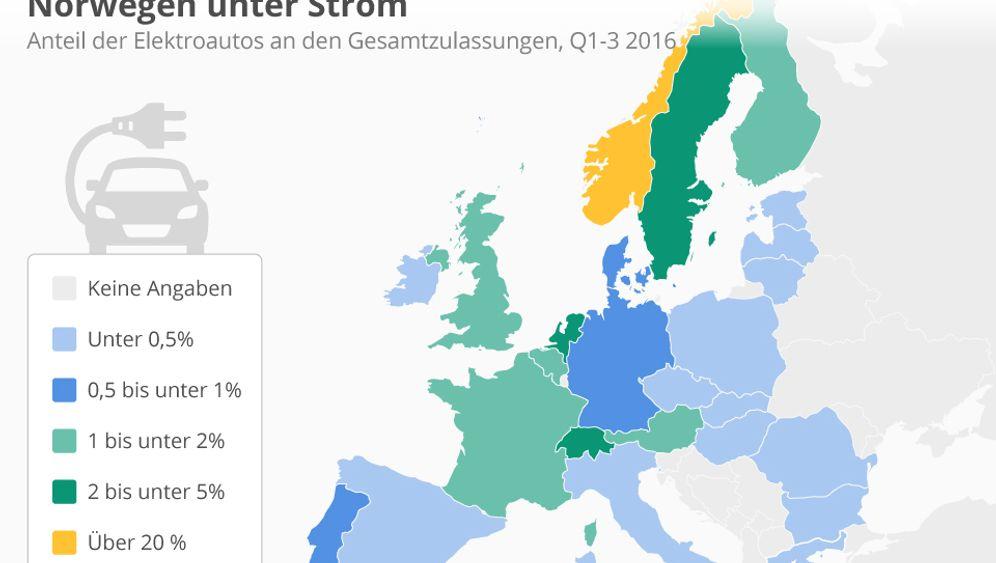 E-Auto-Prämie verpufft: Diese Karten zeigen, in welchen Ländern die Elektroautos Fahrt aufnehmen