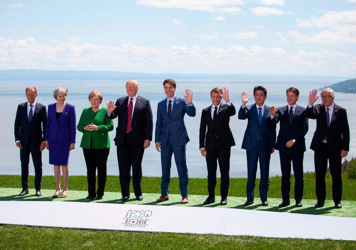 Abschlussfoto vom G7-Gipfel