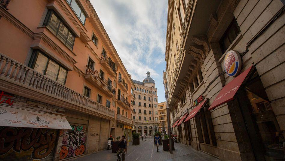 Stadtzentrum von Palma de Mallorca: Im nahen Arbeiterviertel Son Gotleu dürfen die rund 23.000 Bewohner ihr Viertel nur noch aus zwingenden Gründen verlassen