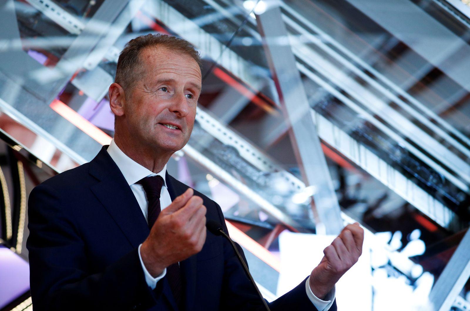 FILE PHOTO: Volkswagen Chief Executive Herbert Diess