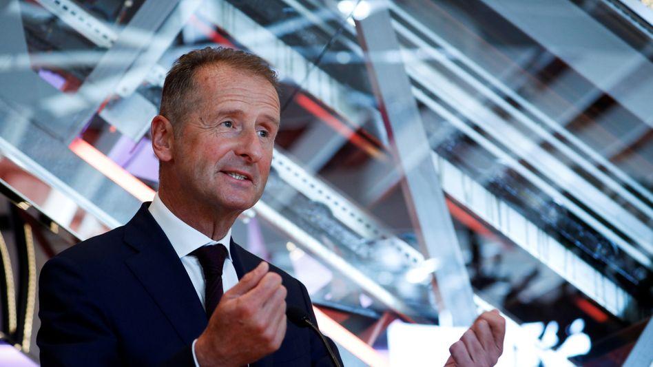 Cassandra aus Wolfsburg: Volkswagen-Konzernchef Herbert Diess sieht die niedrige Börsenbewertung seines Konzerns als großes Problem