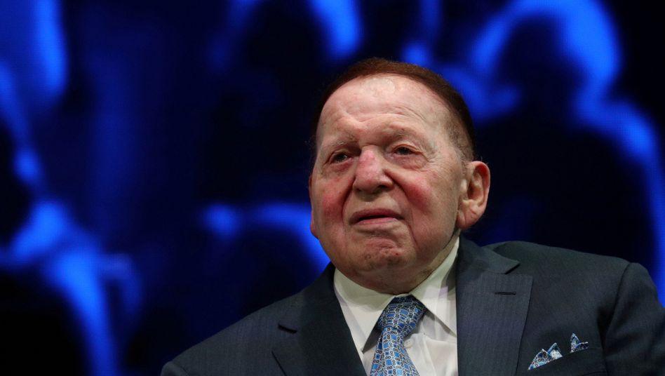 Kasinomogul, Milliardär, Trump-Fan: Sheldon Adelson im Dezember 2019 bei einer Veranstaltung in Florida