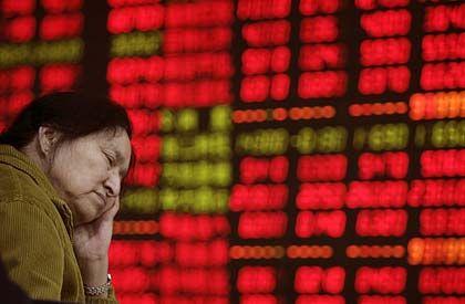 Katerfrühstück: Die Kurstafel in Shanghai sah am Dienstag wenig erfreulich aus