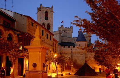 Abendstimmung: In Olite kann man die romantische Seite von Navarra entdecken