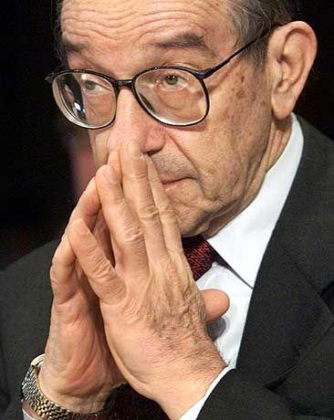 Anleger warten auf Signale von Fed-Chef Alan Greenspan.