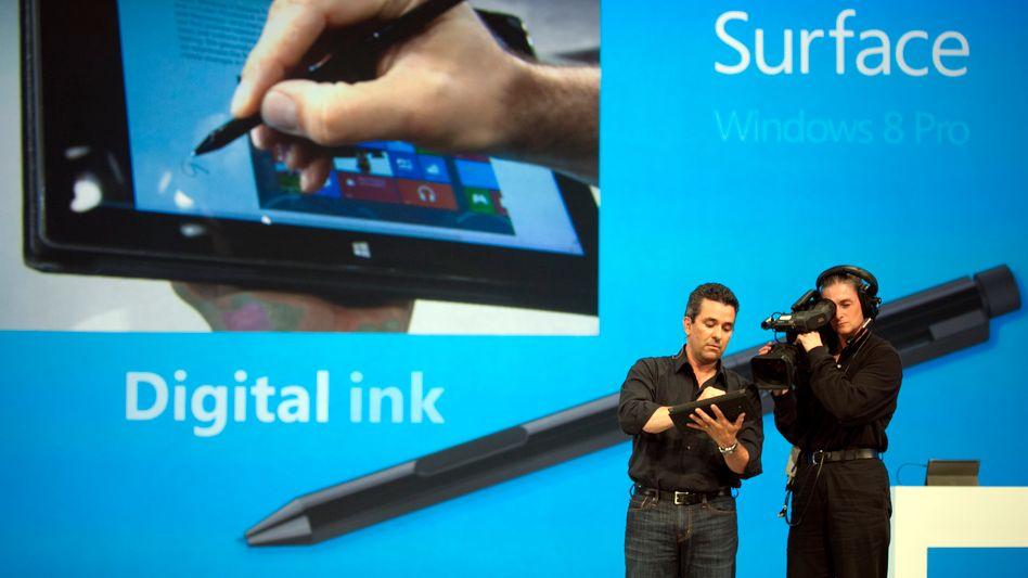 Hoffnungswert: Microsoft-Vize Mike Angiulo präsentiert neue Fähigkeiten des Betriebssystems Windows 8.