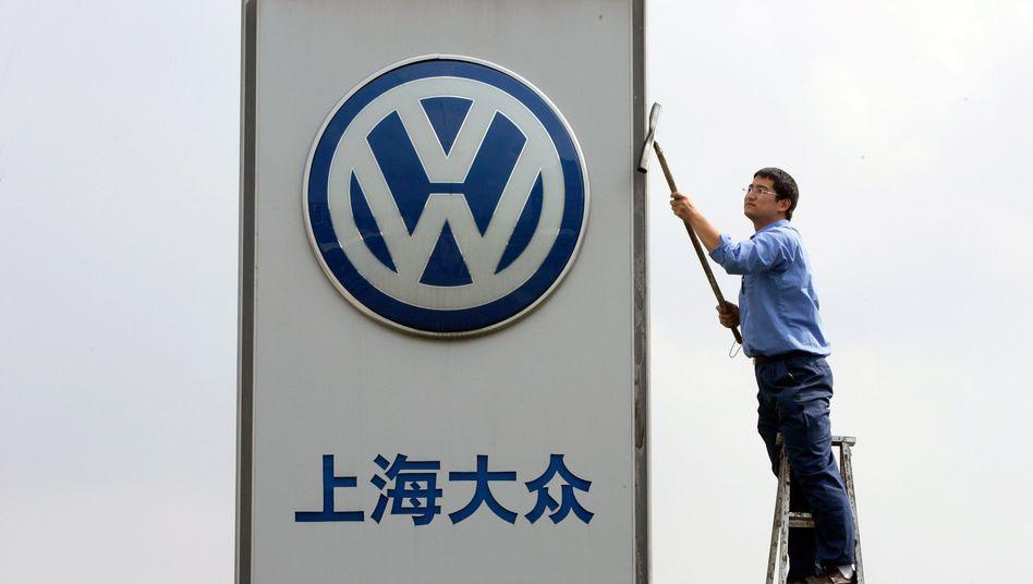Volkswagen China: Der Absatz im Reich der Mitte fiel im April und im Mai zurück. Dennoch verkauft der Konzern hier noch mit Abstand die meisten Autos weltweit