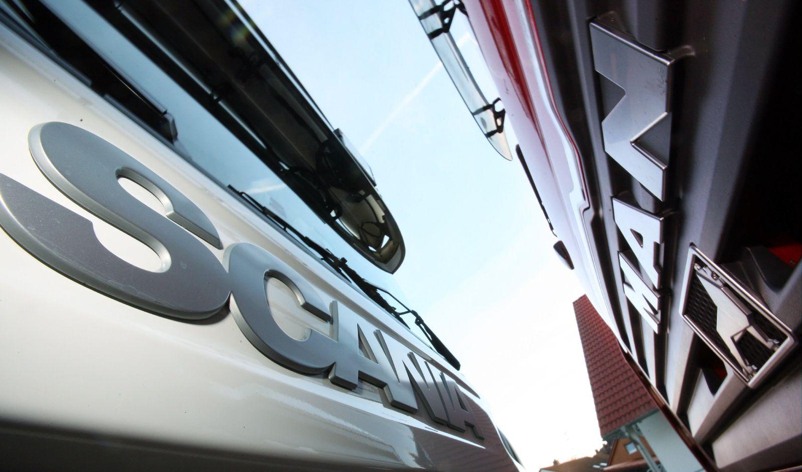 MAN und Scania / Lkw / Lkws / Trucks