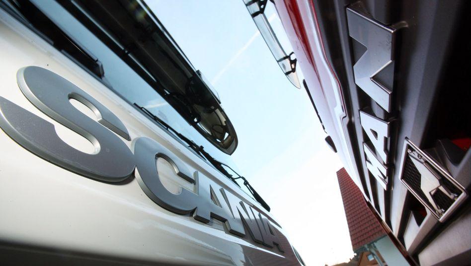 Unter einem Dach: Lkw-Hersteller Scania und MAN