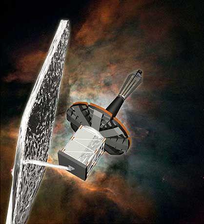 """Lockheed-Satellit (Zeichnung): Investieren in den """"Krieg der Sterne"""""""