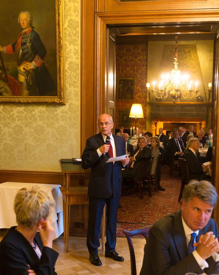 Berthold Huber bei seiner Dankesrede zur Aufnahme in die Hall of Fame der deutschen Wirtschaft.