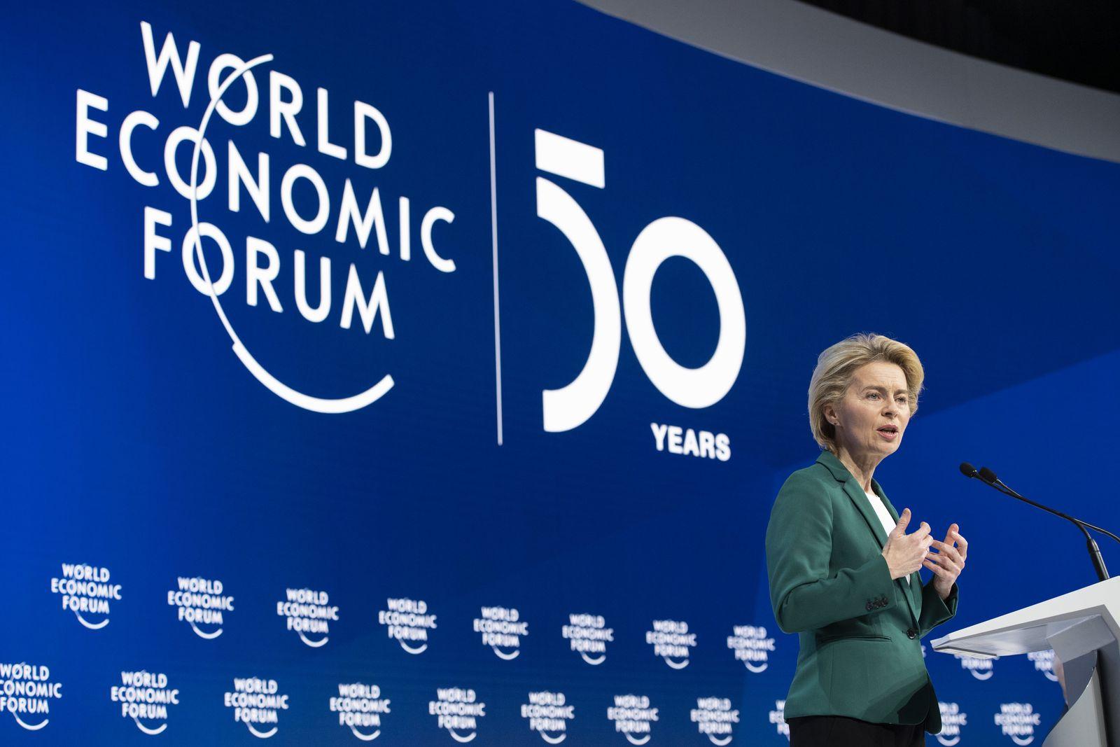 Weltwirtschaftsforum in Davos / Ursula von der Leyen