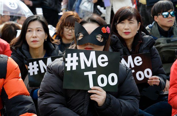 Die #MeToo-Bewegung zog durch die Welt: Hier eine Demo in Südkorea