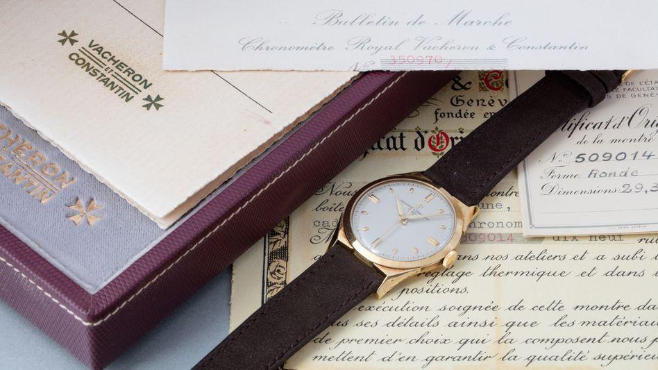 """Hochpräzise:""""Chronometre Royal"""" in Gelbgold von 1956"""