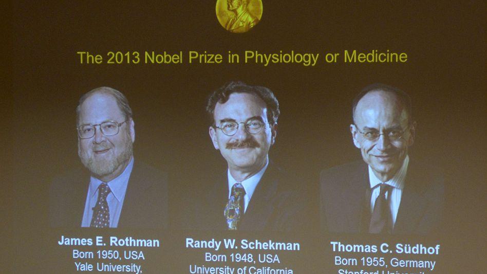 Die frischgekürten Nobelpreisträger: Rothmann, Schekman und Südhoff