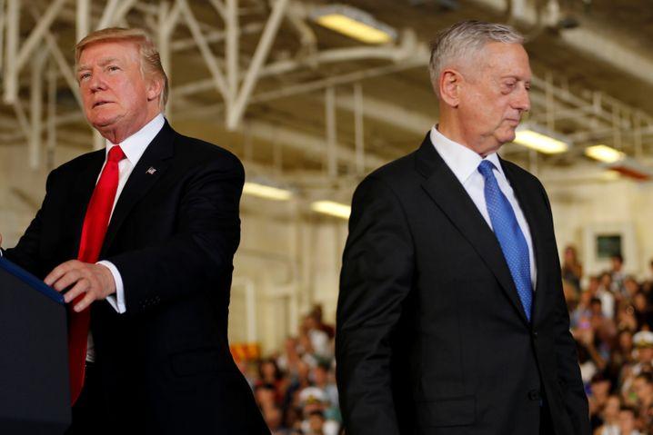 ... galt als sehr loyal gegenüber US-Präsident Donald Trump. Der von Trump angeordnete Rückzug der Truppen aus Syrien und aus Afghanistan überstrapazierte aber offenbar die Loyalität des US-Verteidigungsministers, der lieber still und im Hintergrund wirkte und so auch auf Trump einzuwirken versucht habe, heißt es