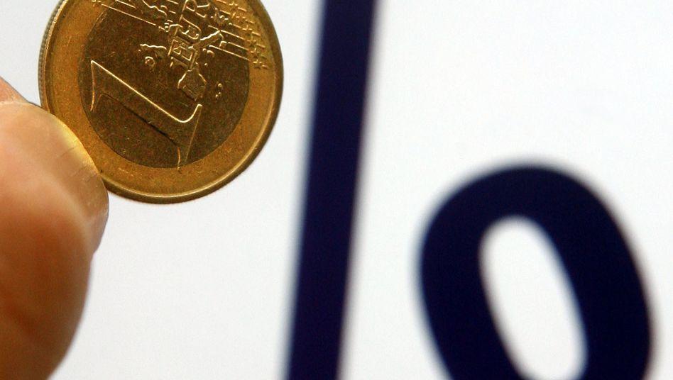 Noch jahrelang Nullzins: Käme es so, sehen Sparer wie Banken gleichermaßen schwierigen Zeiten entgegen