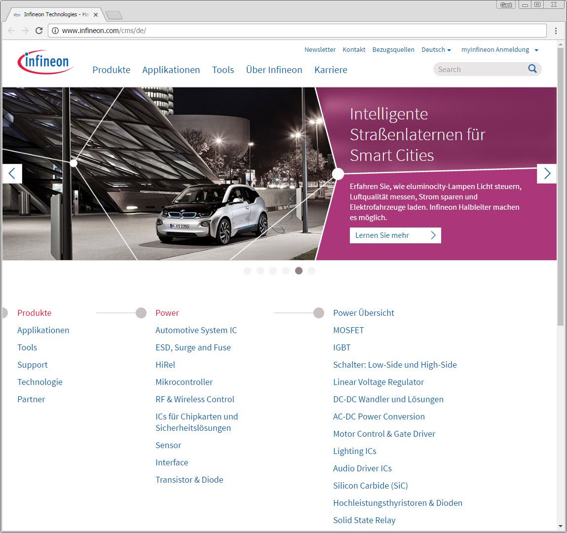 SCREENSHOT infineon.com