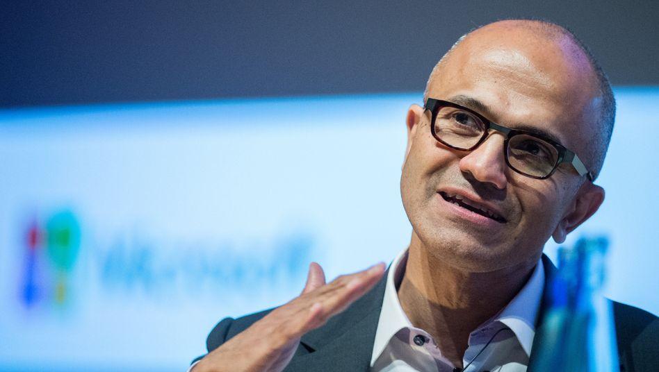 """Der Neue: Microsoft-Chef Satya Nadella stellte sich in Berlin den Fragen der Studenten der TU. """"Der Nachwuchs ist für uns das Lebenselixier"""", sagte er"""