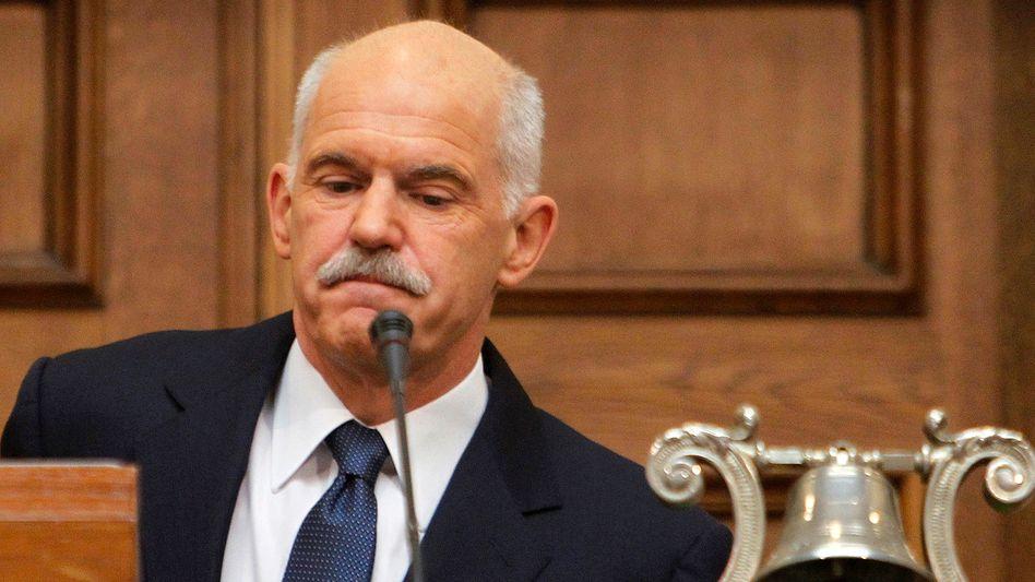 Ärger in Athen: Premier Papandreou will die Griechen über das Euro-Rettungspaket abstimmen lassen