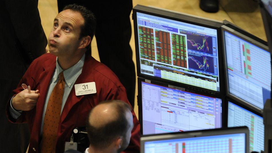 Wie hoch wohl das noch geht ... : Händler an der New Yorker Börse