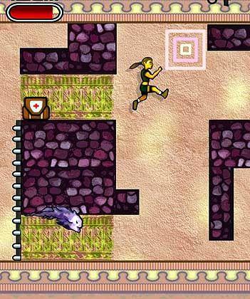 Gelbes Mädchen: Handyversion von Tomb Raider 2
