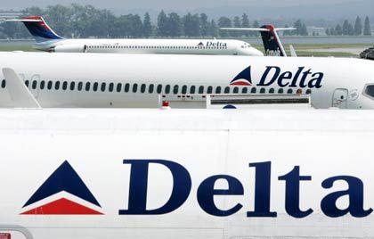 Flugzeuge der Delta Airlines: Vier von Sieben Branchengrößen unter Gläubigerschutz