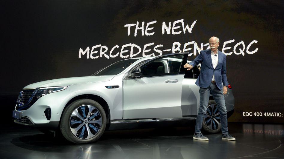 Der Elektro-SUV EQC von Mercedes soll Mitte dieses Jahres auf den Markt kommen