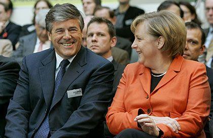 Wer zuletzt lacht: Auch Deutsche-Bank-Chef Josef Ackermann ist am Mittwoch Gast im Kanzleramt