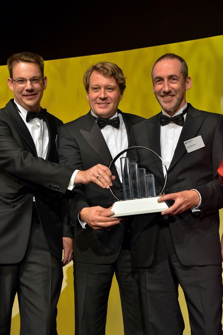 Entreprenuere des Jahres in der Kategorie IT/Medien: Peter Samuelsen, Thomas Köhler und Stefan Grieben führen das E-Business-Unternehmen novomind