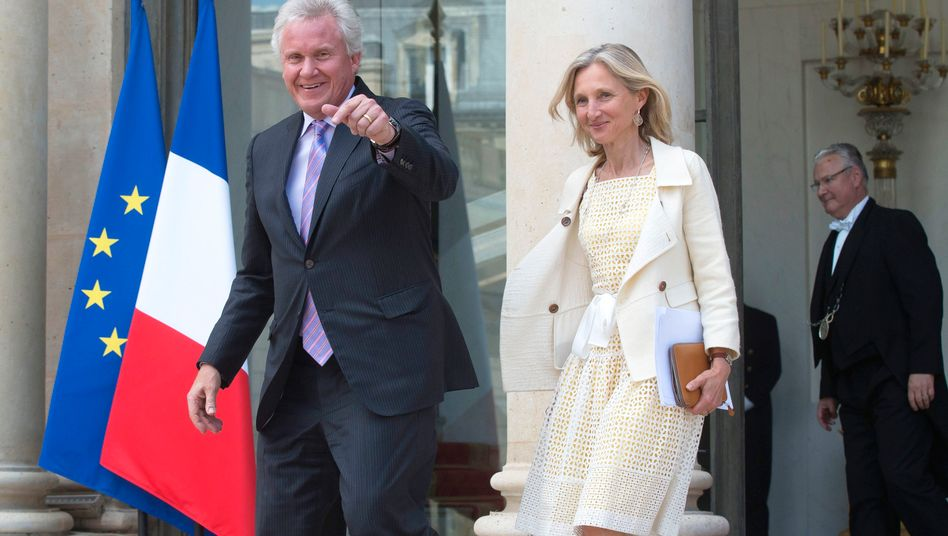 General-Electric-Chef Jeffrey Immelt (l.): Erfolg in Paris