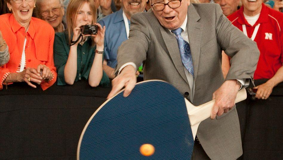 Warren Buffett: Nicht ein Händchen für den Pingpongschläger