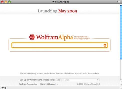 Suchmaschine WolframAlpha: Will Antworten geben