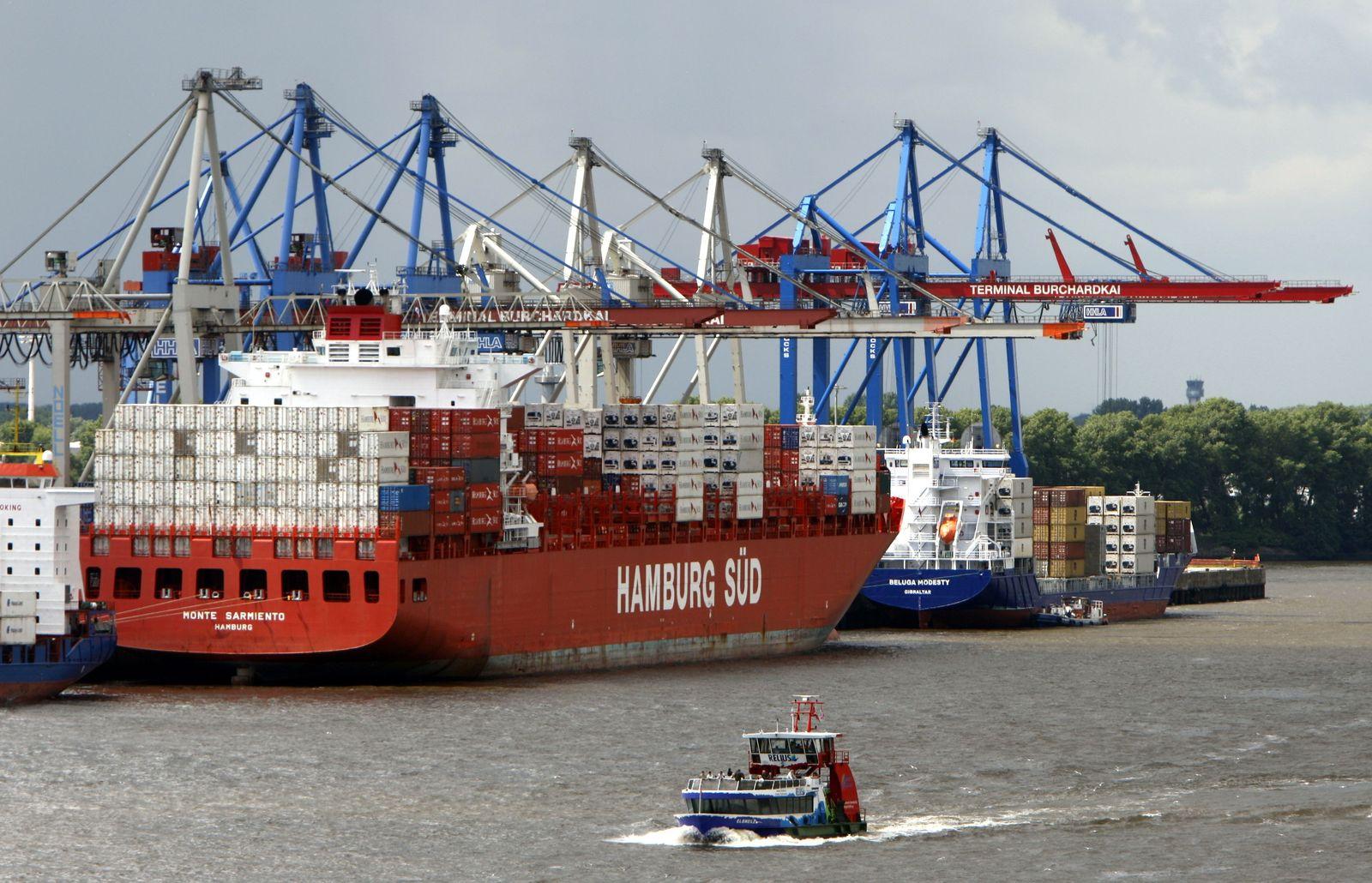 Containerschiffe / Containerterminal / Handel / Hamburger Hafen / Hamburg