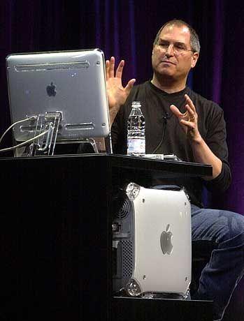 Apple-Chef Steve Jobs beschreibt das Produkt, das ihn zum Milliardär gemacht hat