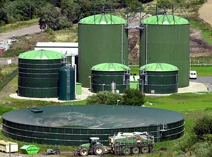 Grüner Brennstoff: Biogas-Anlage am Stadtrand des mecklenburgischen Neubukow