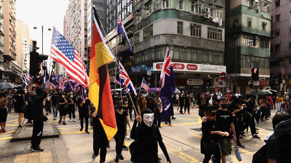 Gefährliche Stimmung: Demonstration in Hongkong im Oktober 2019