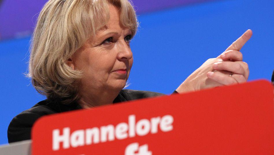 Das neue Zugpferd? Die nordrhein-westfälische Ministerpräsidentin Hannelore Kraft habe neue Mitglieder in die SPD gelockt, kolportiert die Partei