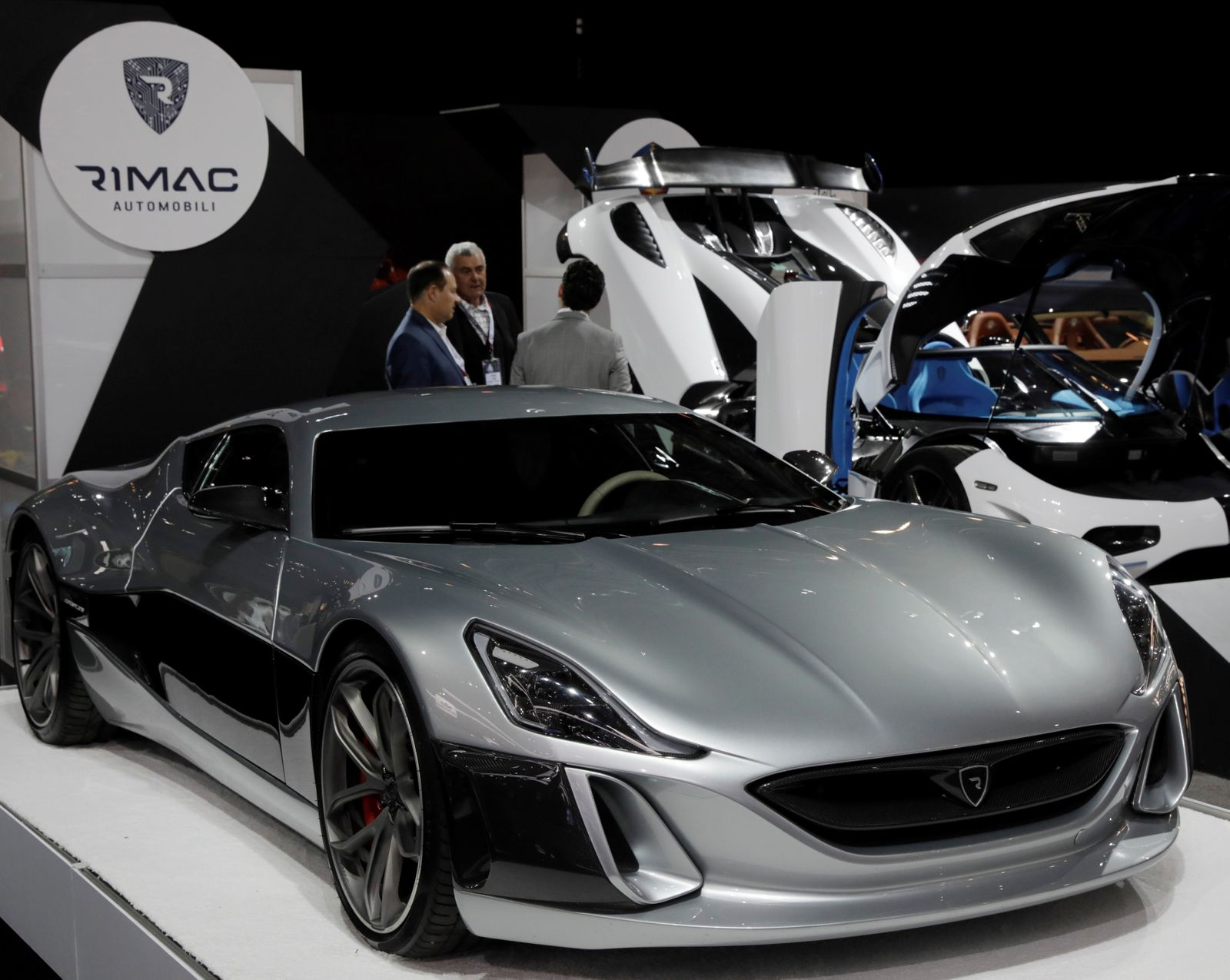 FILE PHOTO: Rimac Automobili Concept_One electric supercar is displayed at the 2017 New York International Auto Show in New York, U.S.