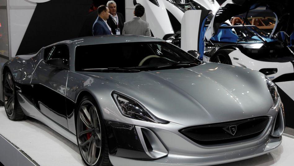 Sportwagen von Rimac: Die kroatische Firma soll demnächst frisches Geld von Porsche bekommen