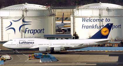 Optimierung am Boden:Die Lufthansa hält fünf Prozent der Fraport-Anteile