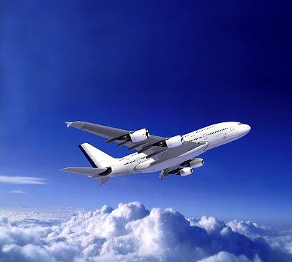 """A380 im exklusiven Outfit: Die Lackierung kommt mit weniger Blau aus als beim """"Standardmodell"""""""