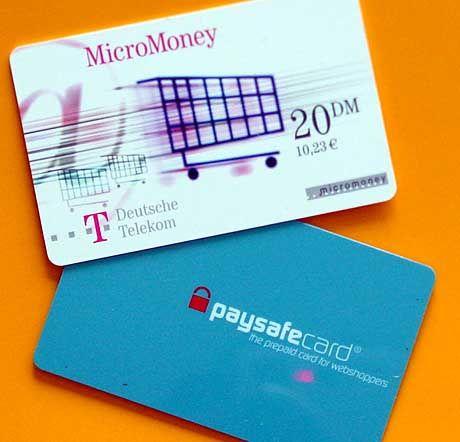 Risikofrei bezahlen im Netz? Paysafecard und MicroMoney sollen es möglich machen